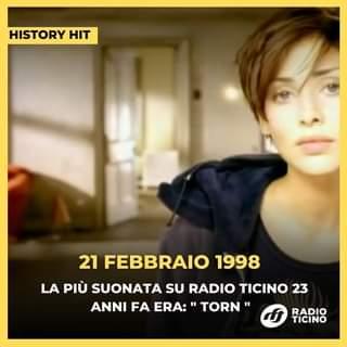 """"""" Torn """" di Natalie Imbruglia fu il nostro pezzo più suonato 23 anni fa!"""